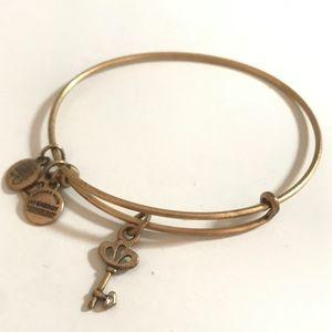 Alex and Ani Gold Key Bracelet